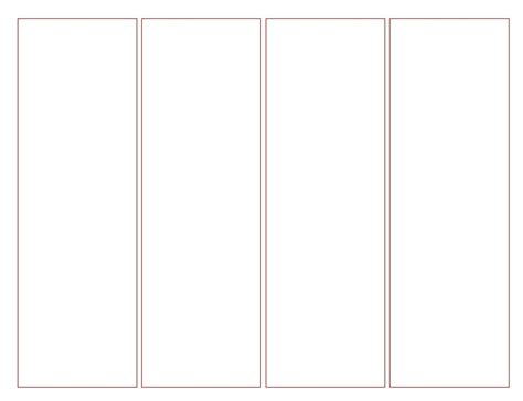 bookmark template for word blank bookmark template template business