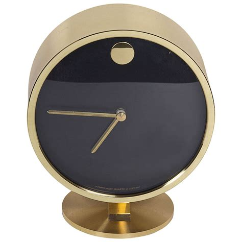 Mid Century Modern Desk Clock Gorgeous Brass Midcentury Desk Clock At 1stdibs