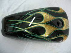 Fahrrad Gold Lackieren by Gold Leaf Custom Paint Green Gold Leaf Flames My