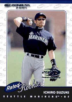 Ichiro Suzuki 2001 2001 Donruss Baseball Cards