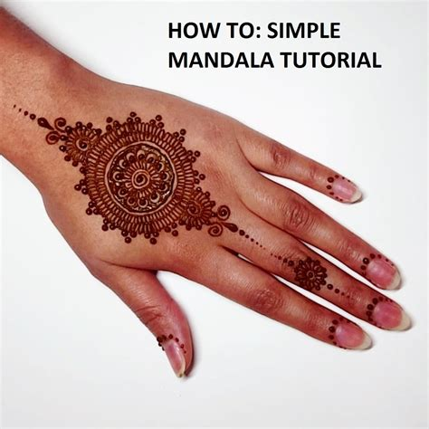 henna art by aroosa how to simple mandala tutorial
