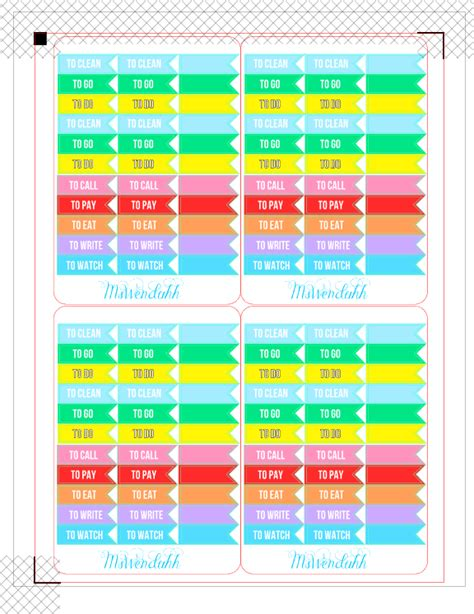 free printable planner flags wendaful printable stickers planners