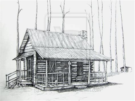 Drawings Of Log Cabins by Pencil Drawings Of Small Log Cabins Studio Design