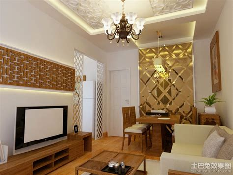 simple apartment decorating ideas 简约小户型客厅餐厅一体装修效果图 土巴兔装修效果图