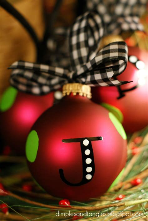 diy personalized ornaments personalized ornaments dimples and tangles
