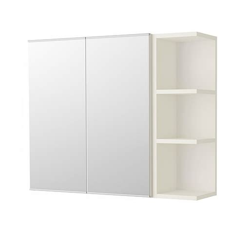 bathroom storage mirrored cabinet lill 197 ngen mirror cabinet 2 doors 1 end unit white 31 1