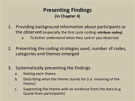 central themes in qualitative research qualitative analysis coding and categorizing