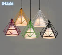 Colorful Pendant Lights Colorful Birdcage Pendant L Scandinavian Modern Minimalist Pyramid Iron Pendant Light
