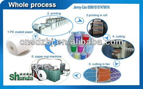 Industrial Paper Process - paper cup machine prices coffee paper cup machine