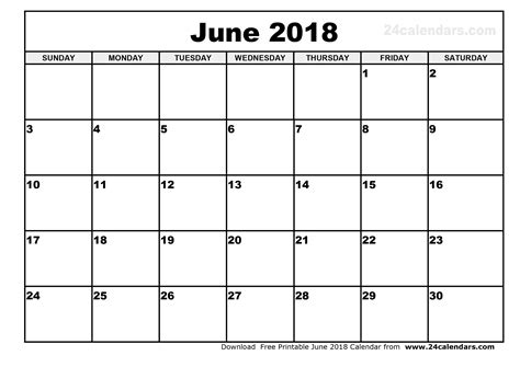 Printable Free Calendar 2018 | june 2018 calendar printable free journalingsage com