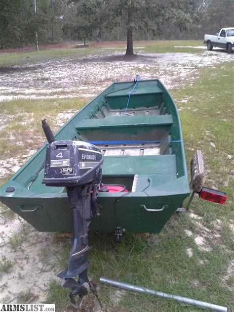 jon boats for sale no motor armslist for sale trade 14 jon boat with 4 hp evinrude