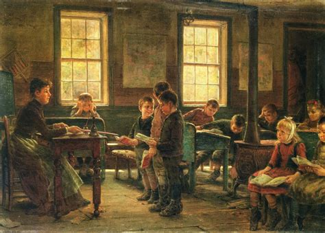 school painting edward lamson henry a country school painting reproduction