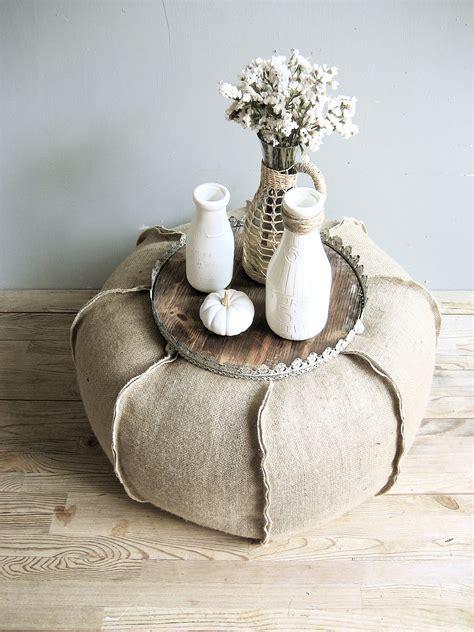 burlap xlarge 24 pouf ottoman floor pillow