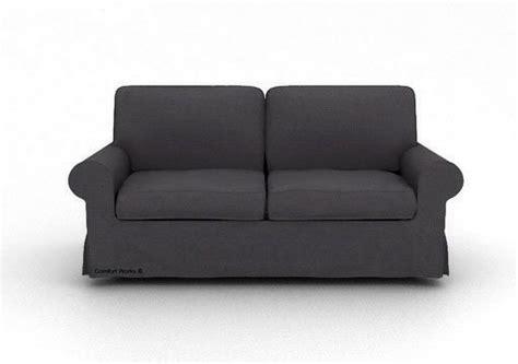 charcoal slipcover ikea ektorp 3 seater sofa custom slipcover in kino charcoal