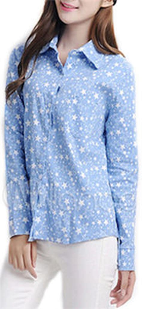 light blue stars womens shirt