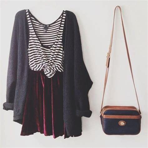Overall Maxi Skirt Velvet Series 8099 Dress Cardigan Sweater Stripes Purse Bag Tank Top