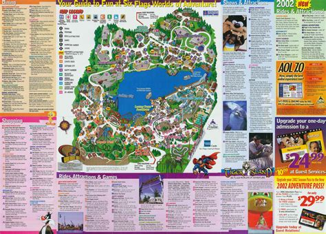 Worlds Of Adventure by 2002 Six Flags Worlds Of Adventure Park Guide