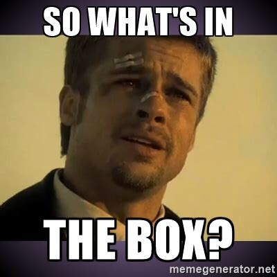 Whats In The Box Meme - post your unboxing pictures page 199