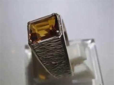 1 Set Kikir Cincin Ring Batu Mulia cincin pria batu citrine 3 14 carat silver ring 10 5us