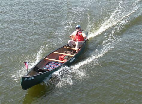 electric trolling motor on a canoe wye is race course
