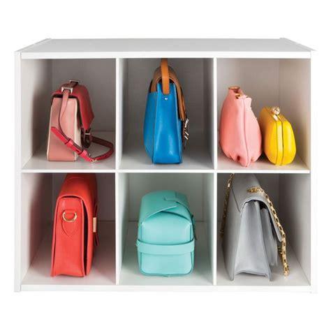 shoe and handbag storage 6 section shoe handbag organizer the container store