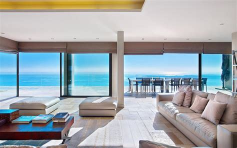 view interior of homes cote d azur villa with spectacular sea views