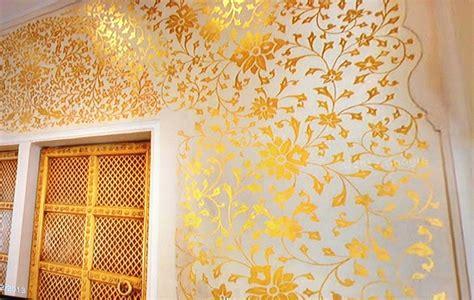interior design stencils indian arch gold stencil interior design