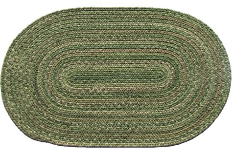 green braided rugs lowcountry green oval wool braided rug