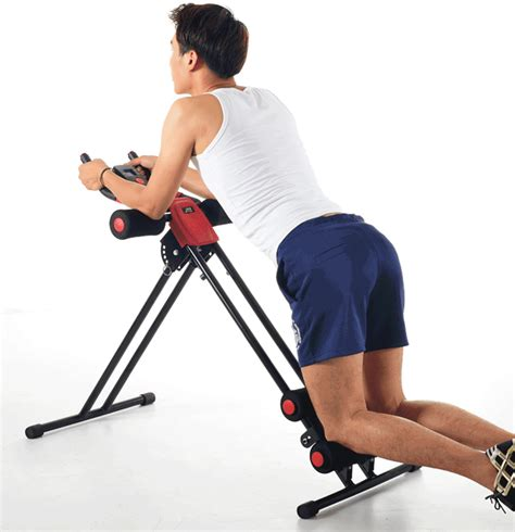 finether ab cruncher abdominal trainer glider machine