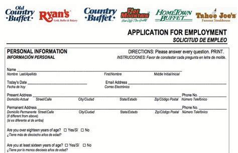 Hometown Buffet Application Pdf Print Out Hometown Buffet Career