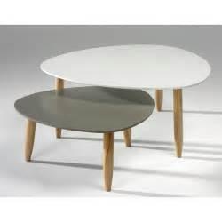 les concepteurs artistiques table basse gigogne blanc taupe