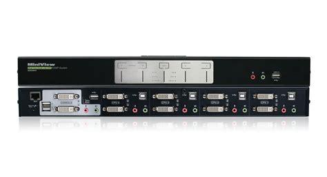Vga Switch 4port Manual kvm switch dual monitor 4port duallink dvi secure kvm