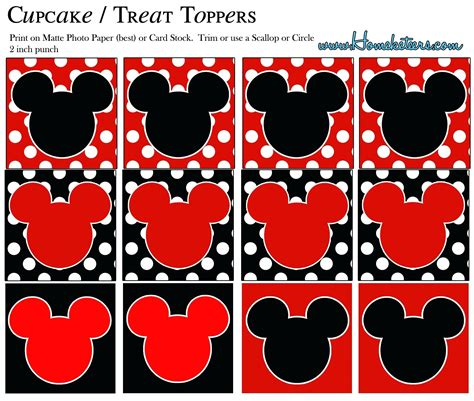 Mickey Mouse Clubhouse Cupcake Toppers Printable