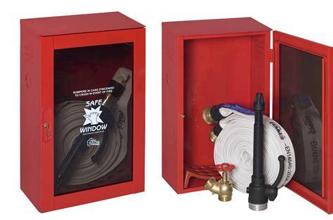 cassetta idrante idrante dn 45 a muro da esterno rosso ce completo di