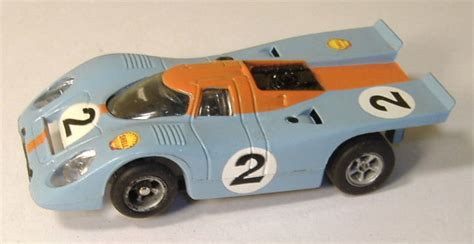 2 In 1 Overall Car Blueorangeyellowred afx slot cars porsche 917 510 and mercury stockers