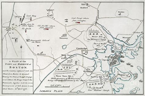 boston map 1775 boston concord map 1775 by granger