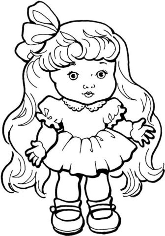coloring page baby girl 301 moved permanently