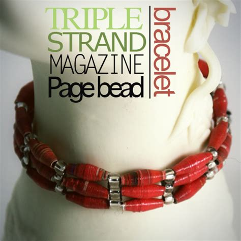 How To Make A Paper Bead Bracelet - paper bead bracelets
