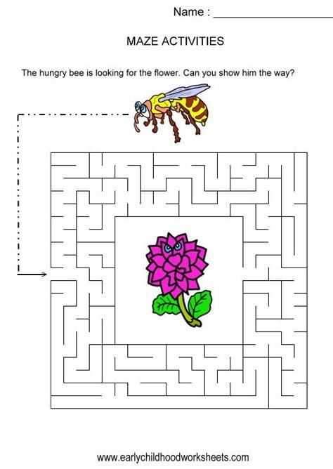 printable maze worksheets for kindergarten kindergarten puzzles worksheets 1000 images about visual