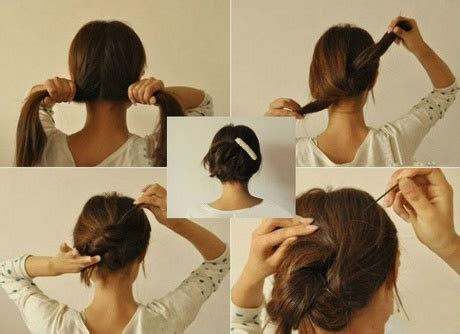 22 super easy hacks that will get you out the door faster fast and easy updos for long hair