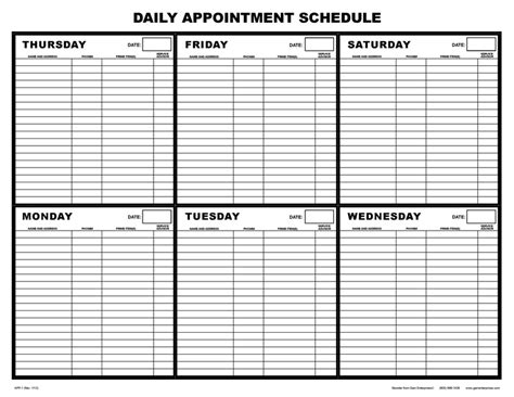 app  daily appointment schedule