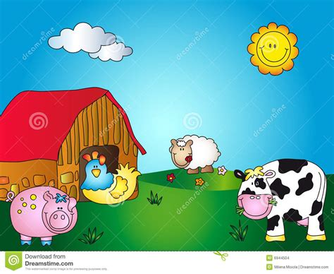 Farm House House Plans by Farm Cartoon Stock Images Image 6944504