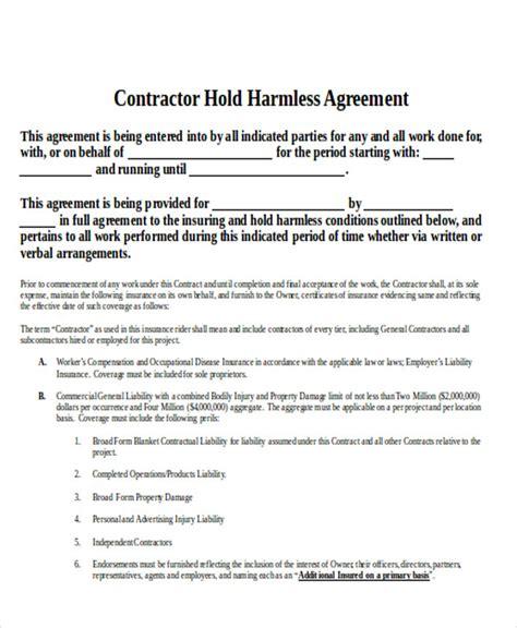 hold harmless agreement 5 hold harmless agreement sle artist resumes