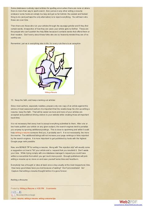 articles on resume writing scholarly articles on resume writing
