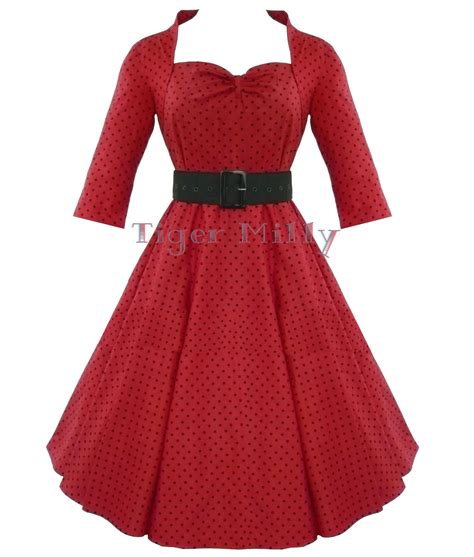 rotes swing kleid hell bunny rotes kleid 50er rockabilly vintage swing ebay