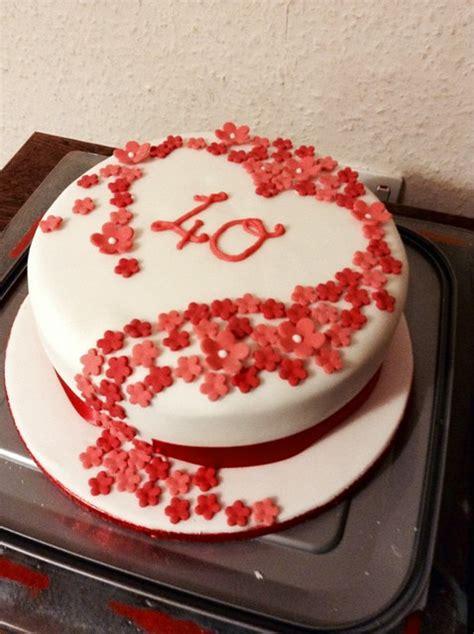 Wedding Anniversary Cake Design by Amazing 40th Wedding Anniversary Cakes Inspirations