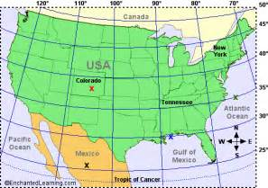 Usa Latitude Map usa map with latitude and longitude