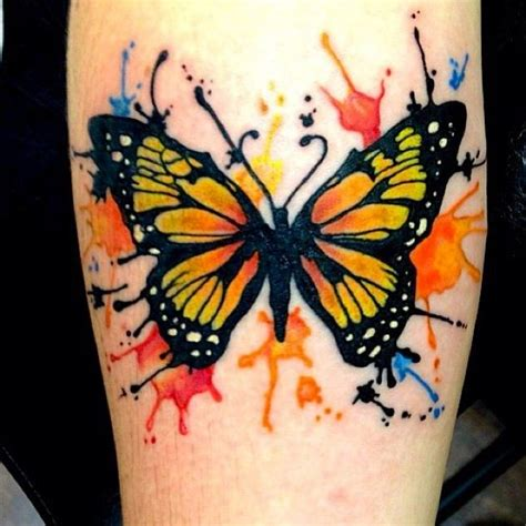 tattoo butterfly colours watercolor butterfly tattoo on forearm totally tats