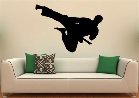 karate wall stickers martial arts karate wall decal vinyl stickers fighting home
