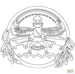 native american mandala coloring page free printable